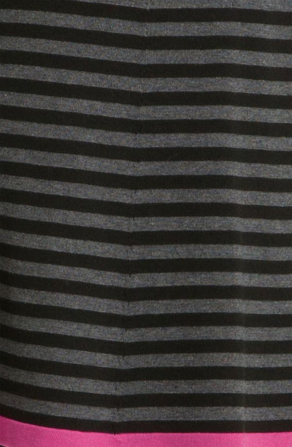 Alternate Image 3  - Eliza J Stripe Contrast Trim Sweater Dress