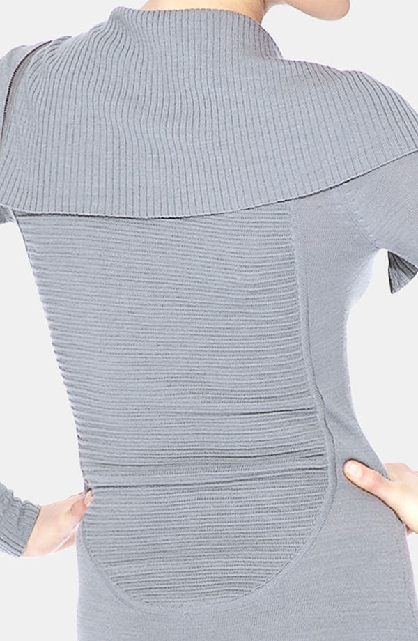 Alternate Image 3  - Marc New York by Andrew Marc Front Zip Asymmetrical Sweater Dress