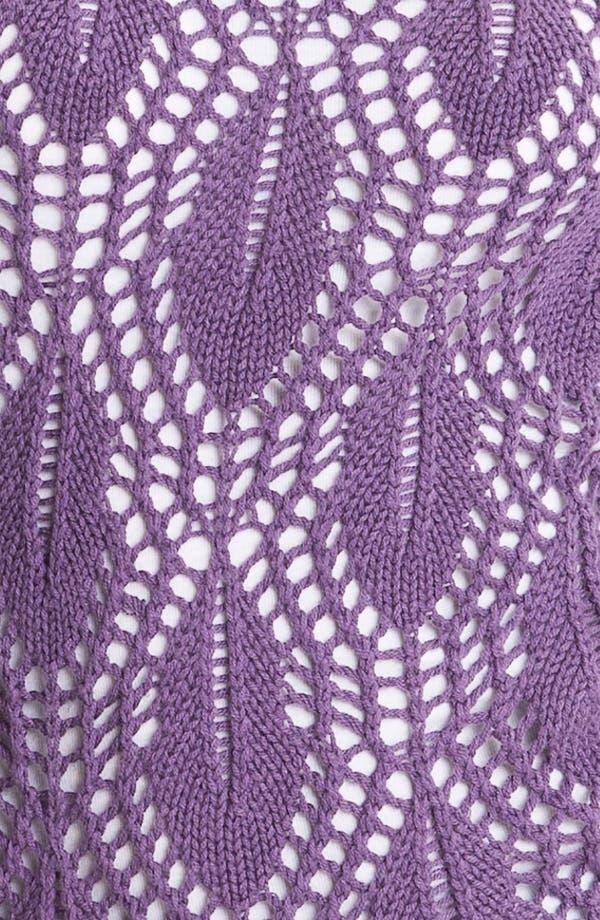 Alternate Image 3  - Caslon® Pointelle Crewneck Sweater