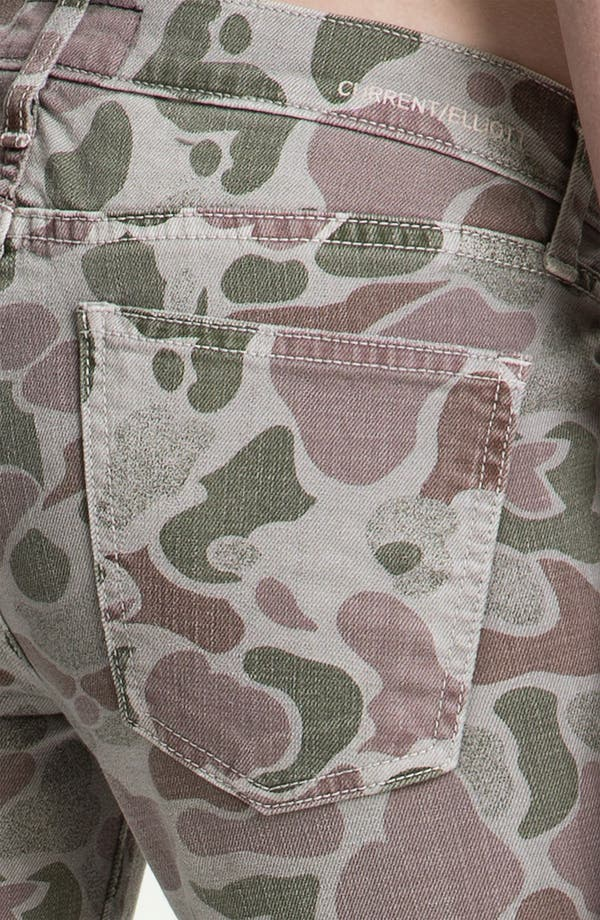Alternate Image 3  - Current/Elliott Zip Skinny Jeans (Grey Camo)
