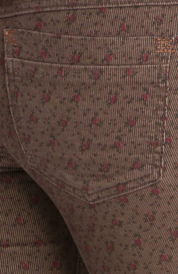 Alternate Image 3  - Free People Floral Print Skinny Corduroy Pants