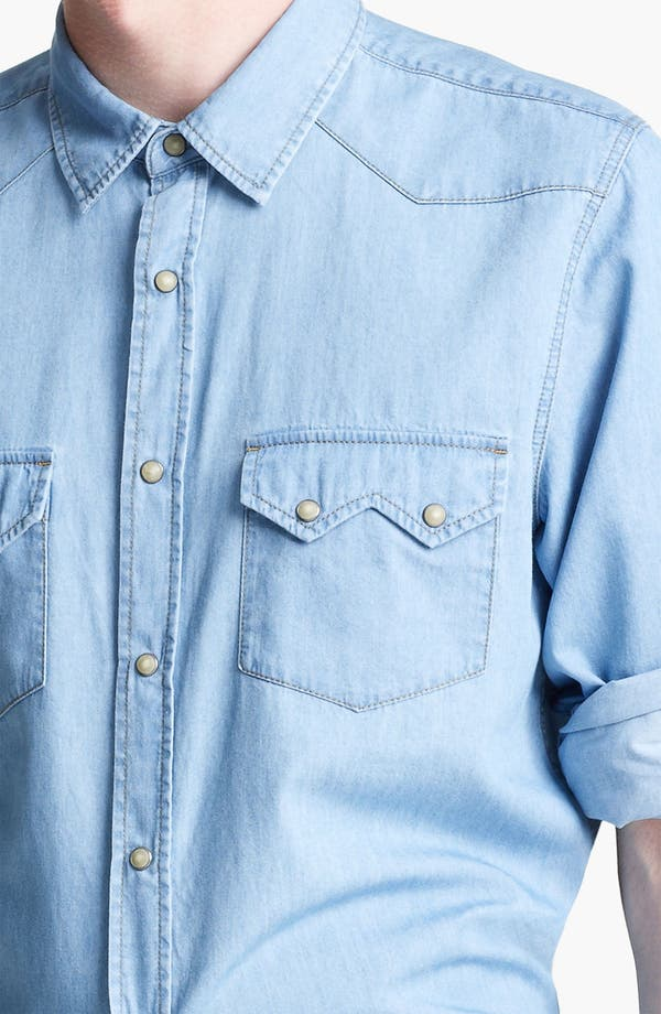 Alternate Image 3  - Topman Denim Western Shirt