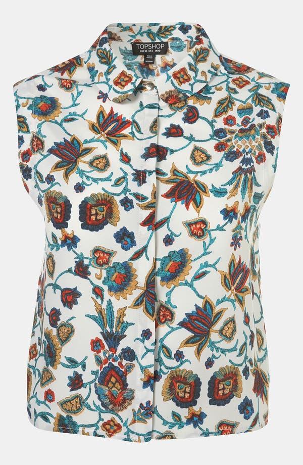 Main Image - Topshop 'Nordic Paisley' Print Crop Top