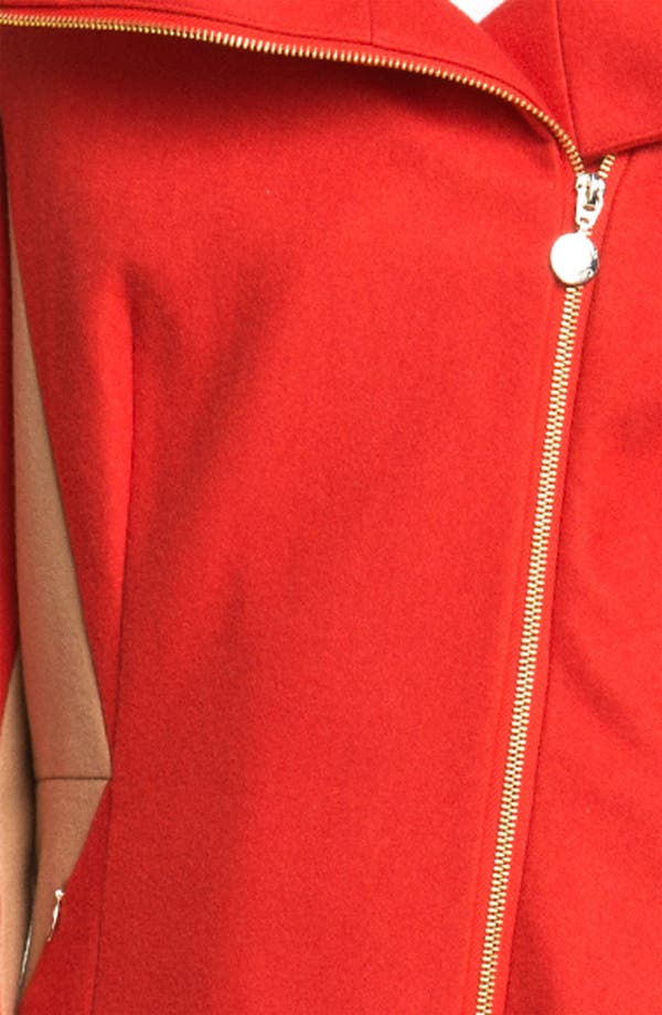 Alternate Image 3  - Calvin Klein Two Tone Asymmetrical Walking Coat