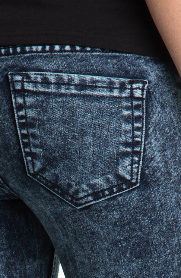 Alternate Image 3  - See Thru Soul Acid Wash Skinny Jeans (Juniors)