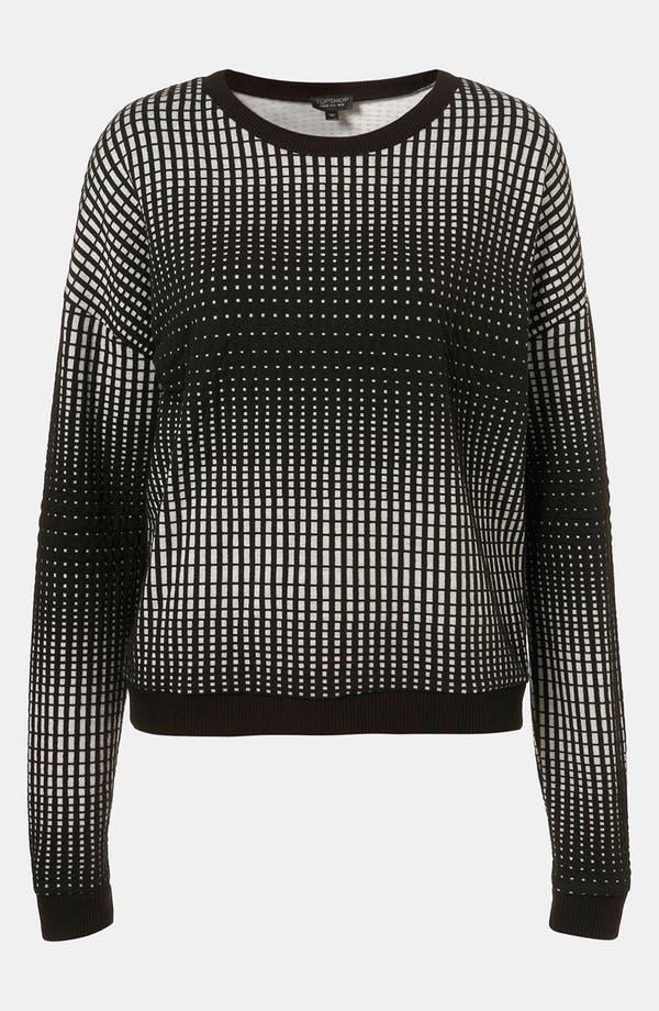 Alternate Image 1 Selected - Topshop 'Grid' Sweatshirt