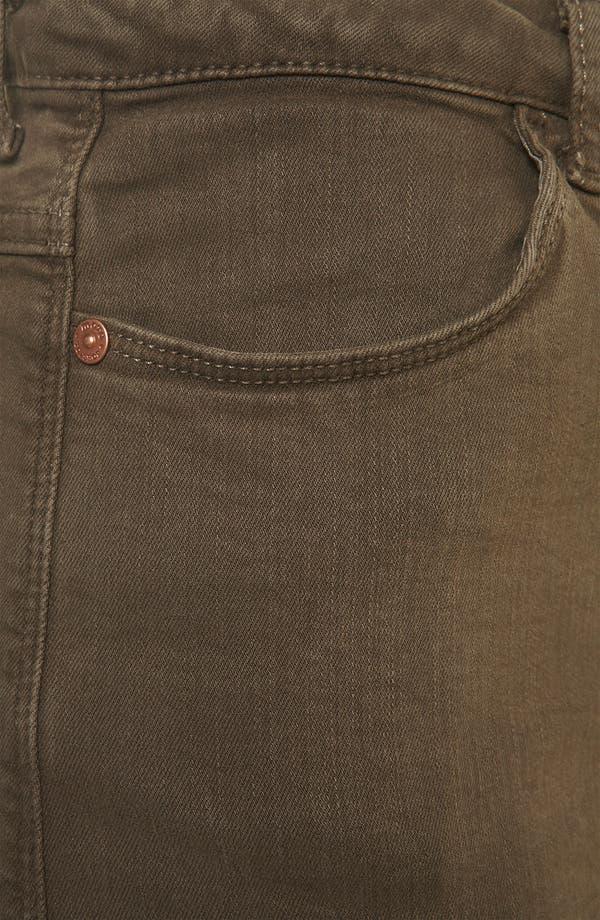 Alternate Image 3  - Topshop Moto 'Suri' Denim Hot Pants (Olive)