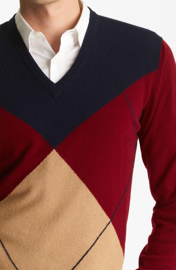 Alternate Image 3  - Pringle of Scotland Argyle V-Neck Cashmere Sweater