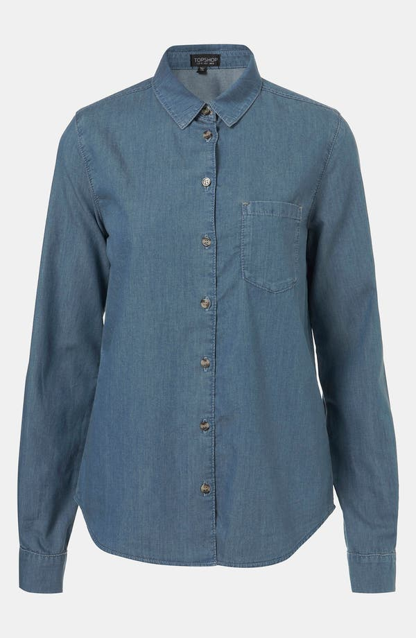 Alternate Image 1 Selected - Topshop 'Colette' Chambray Shirt