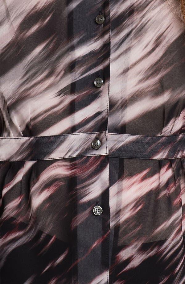 Alternate Image 3  - Hinge Print Chiffon Peplum Blouse