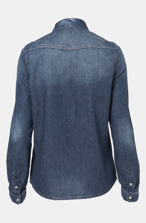Alternate Image 2  - Topshop Moto 'Madison' Denim Shirt