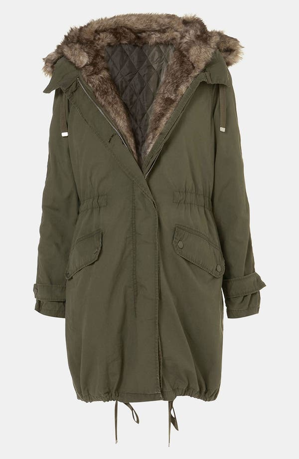 Alternate Image 4  - Topshop 'Benny' Faux Fur Trim Parka