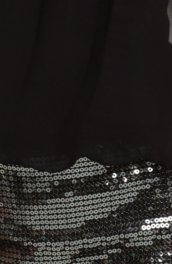 Alternate Image 3  - Aidan Mattox Sequin & Chiffon Blouson Dress