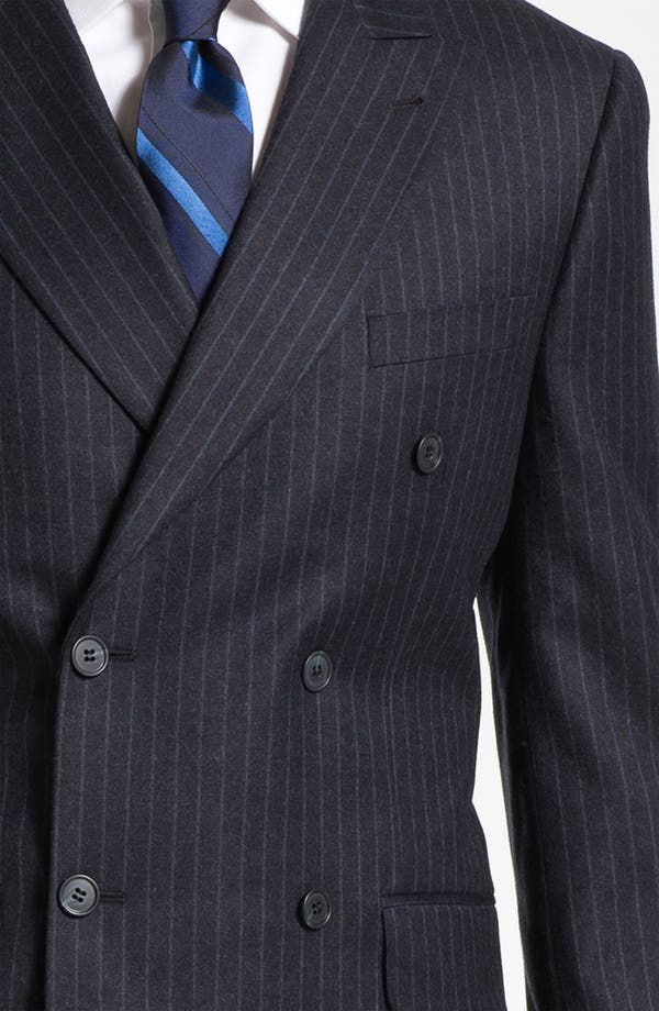 Alternate Image 6  - Joseph Abboud Double Breasted Pinstripe Suit