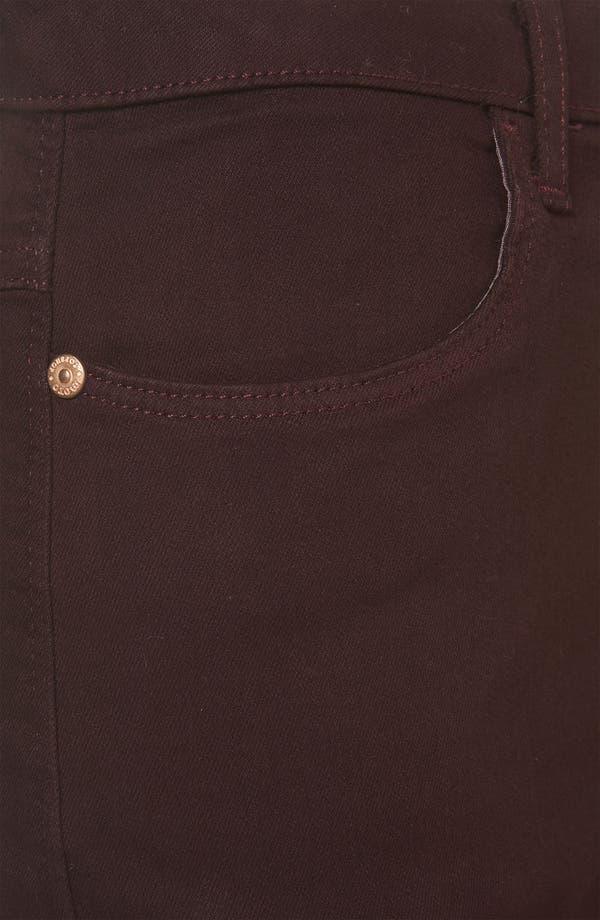 Alternate Image 3  - Topshop Moto 'Suri' Denim Hot Pants (Burgundy)