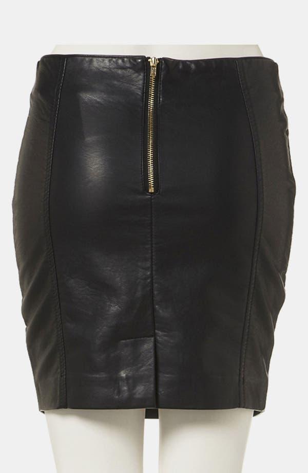 Alternate Image 2  - Topshop Faux Leather Miniskirt