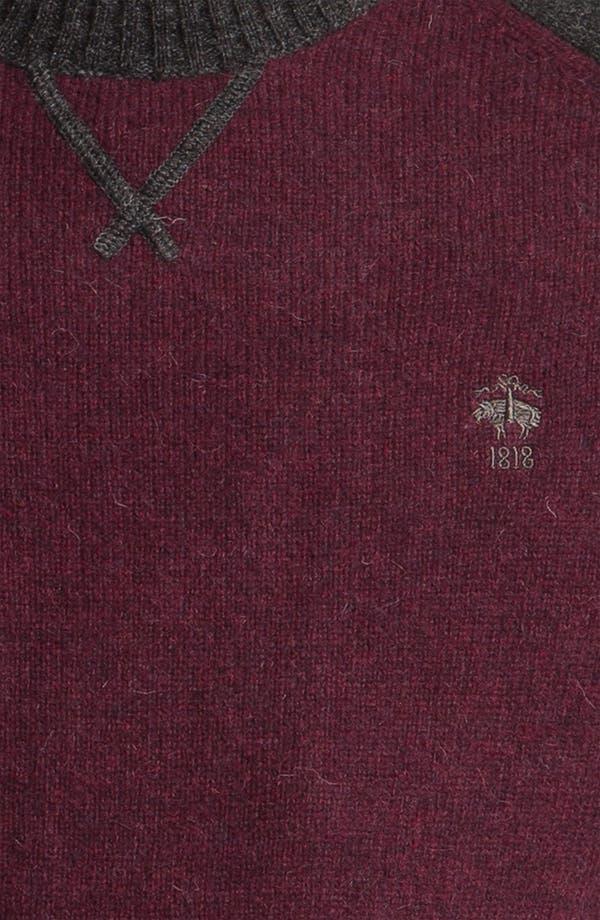 Alternate Image 3  - Brooks Brothers Wool Baseball Sweater
