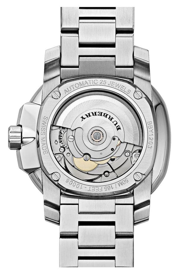 Alternate Image 3  - Burberry The Britain Automatic Bracelet Watch, 43mm