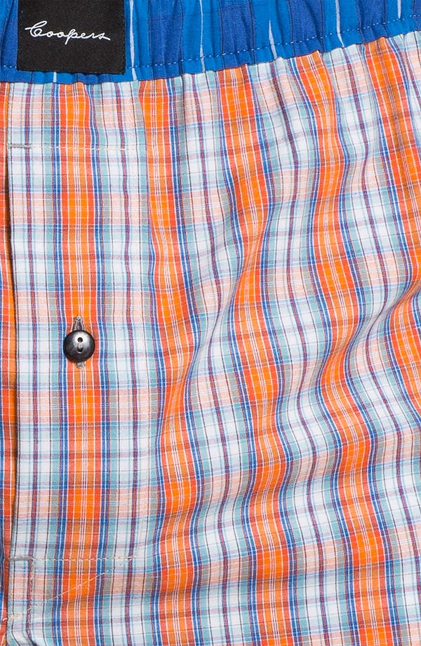 Alternate Image 3  - Coopers by Jockey® Woven Boxer Shorts