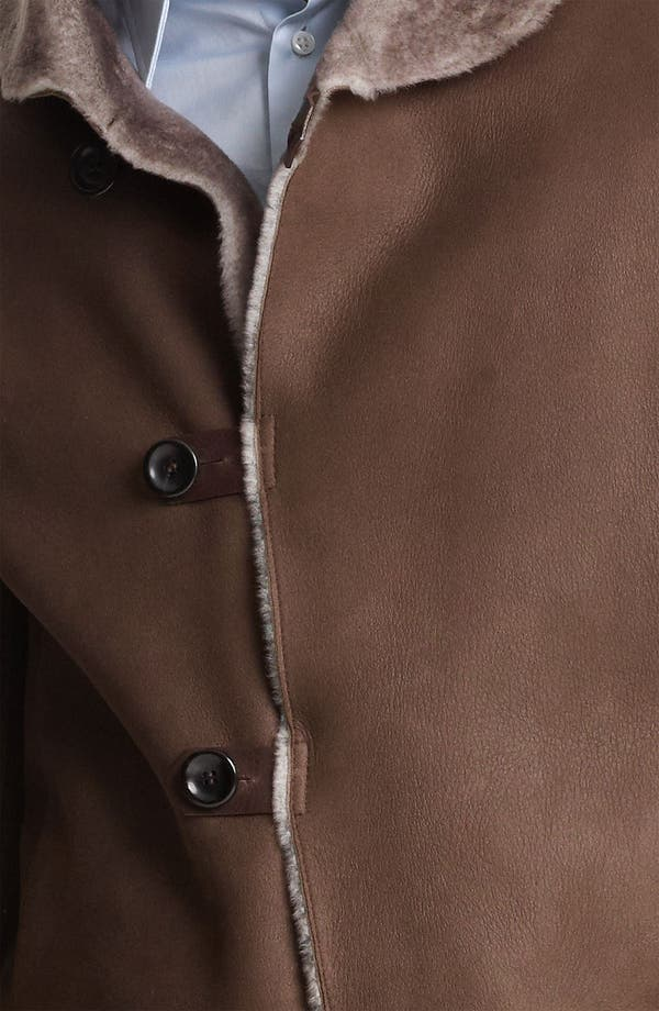 Alternate Image 3  - Armani Collezioni Calfskin Car Coat