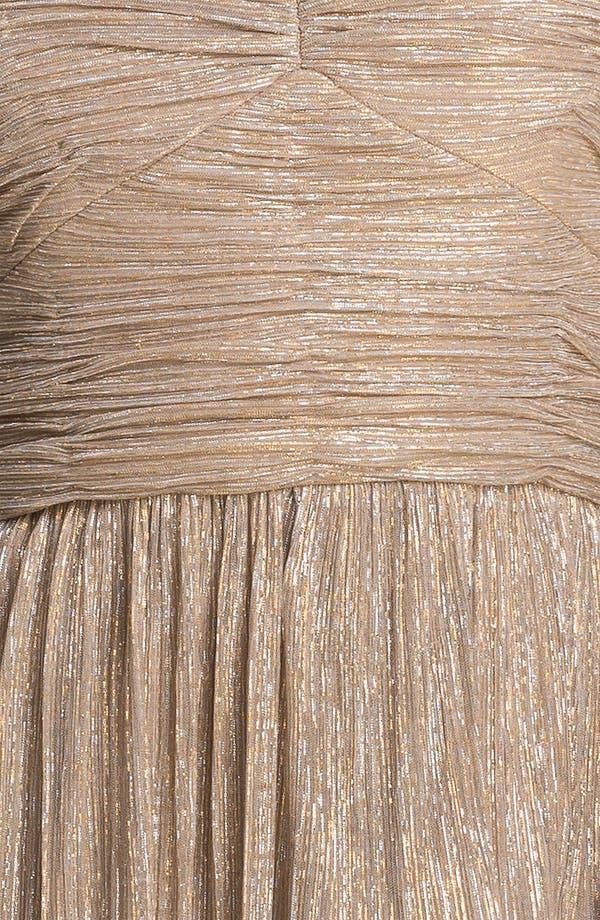 Alternate Image 3  - Max & Cleo 'Rebecca' Ruched Metallic Dress