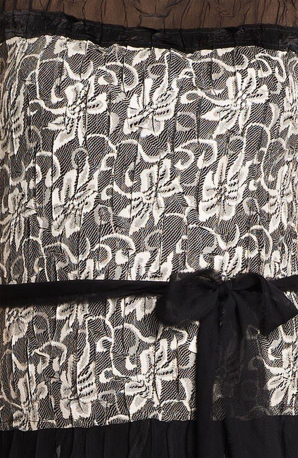 Alternate Image 3  - Black by Komarov Lace & Chiffon Dress