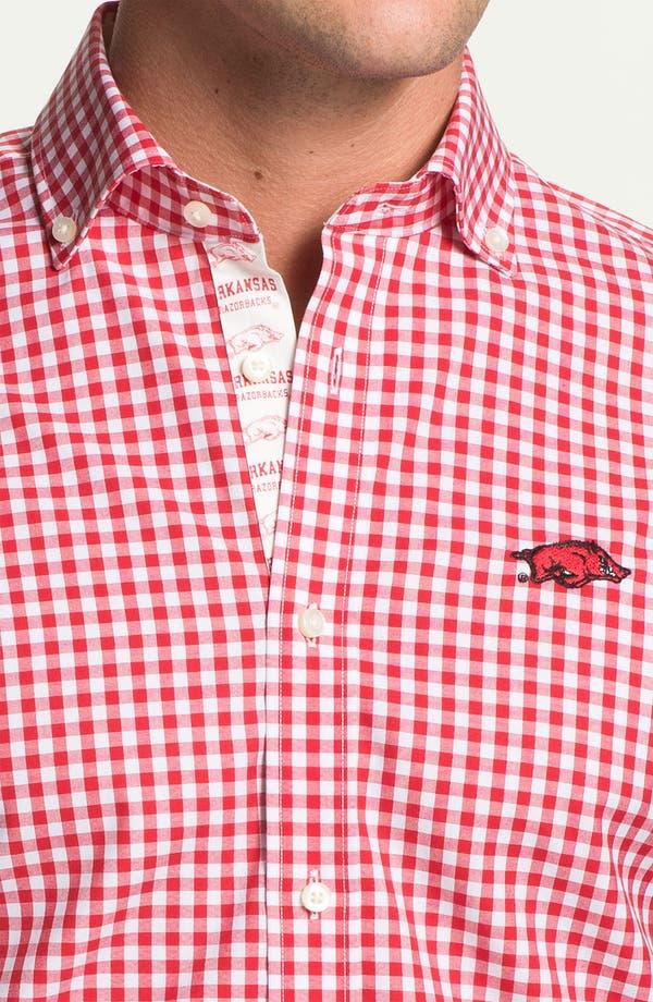 Alternate Image 3  - Thomas Dean 'University of Arkansas' Regular Fit Gingham Sport Shirt
