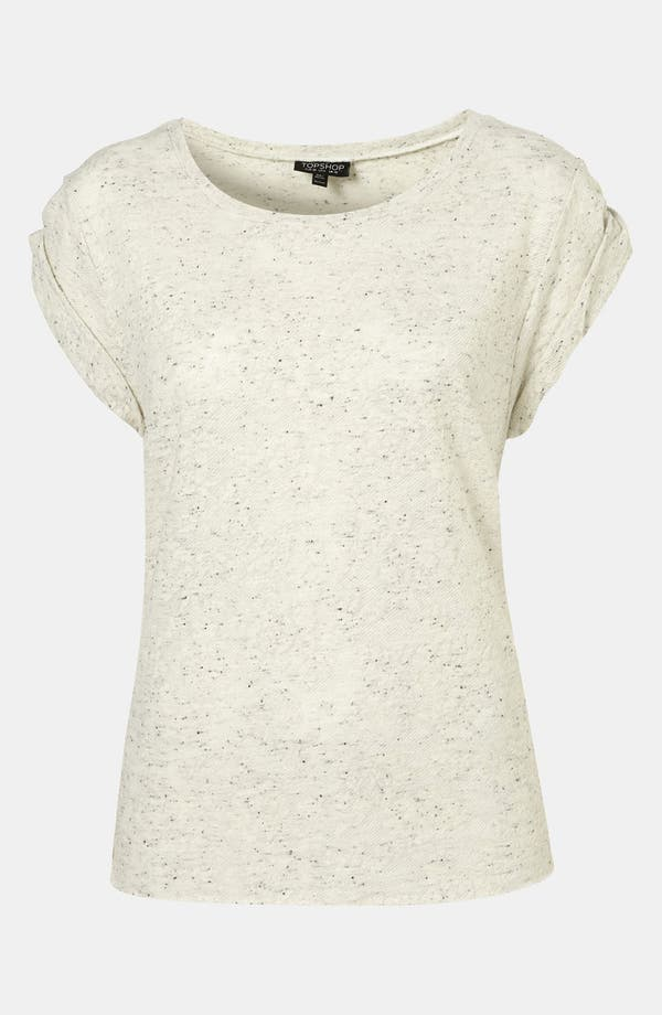 Main Image - Topshop 'Neppy' Floral Jacquard Tee