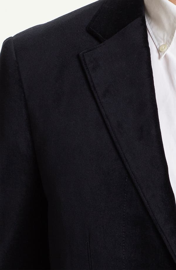 Alternate Image 3  - J.C. Rags Extra Trim Fit Velvet Blazer