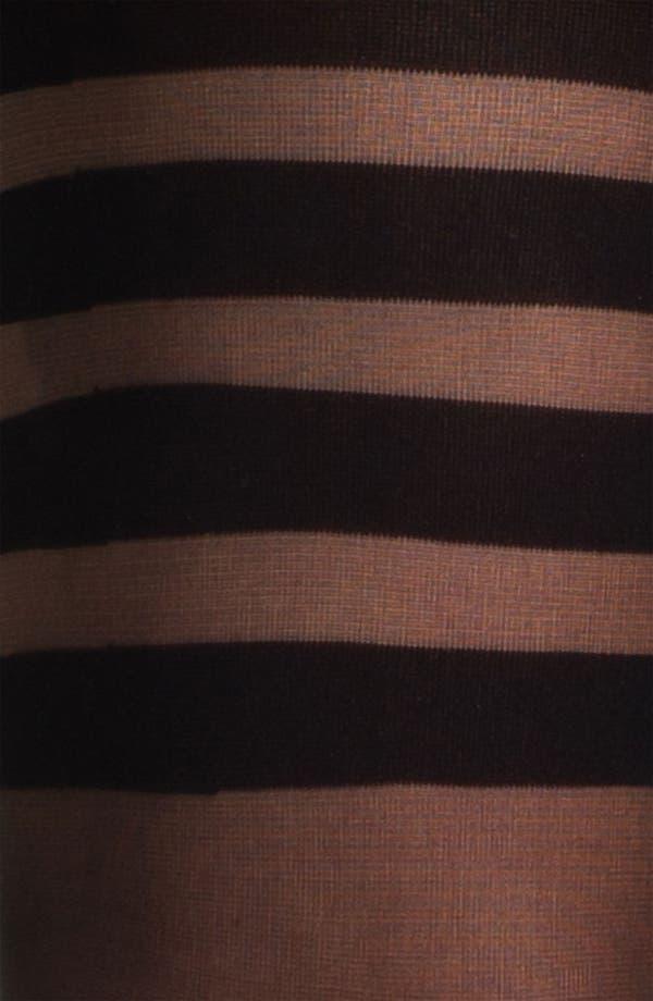 Alternate Image 2  - Kensie Placed Stripe Tights