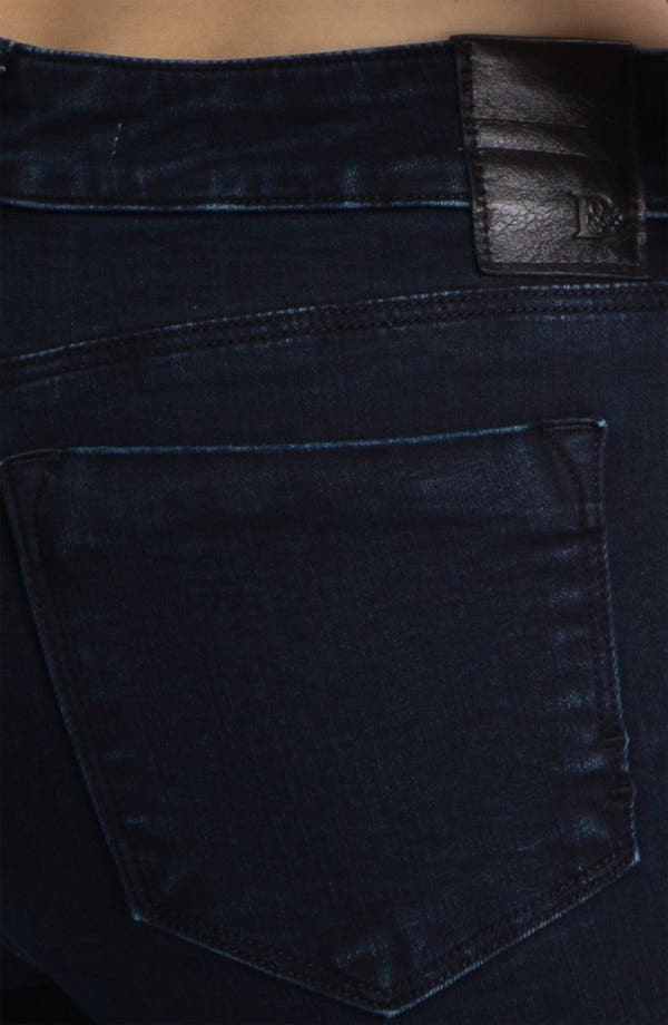 Alternate Image 3  - Dylan George Mid Rise Skinny Jeans (Shadow Blue)