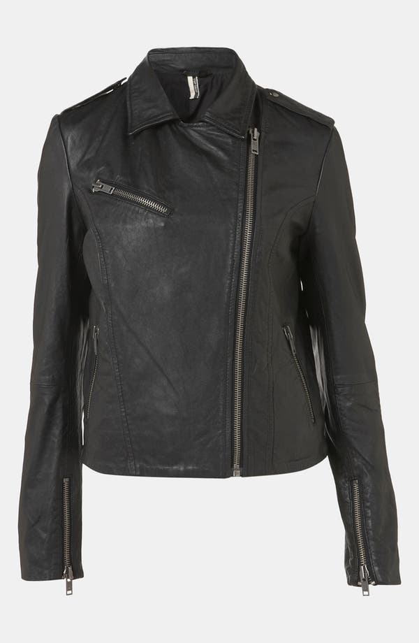 Alternate Image 4  - Topshop 'Winston' Leather Biker Jacket