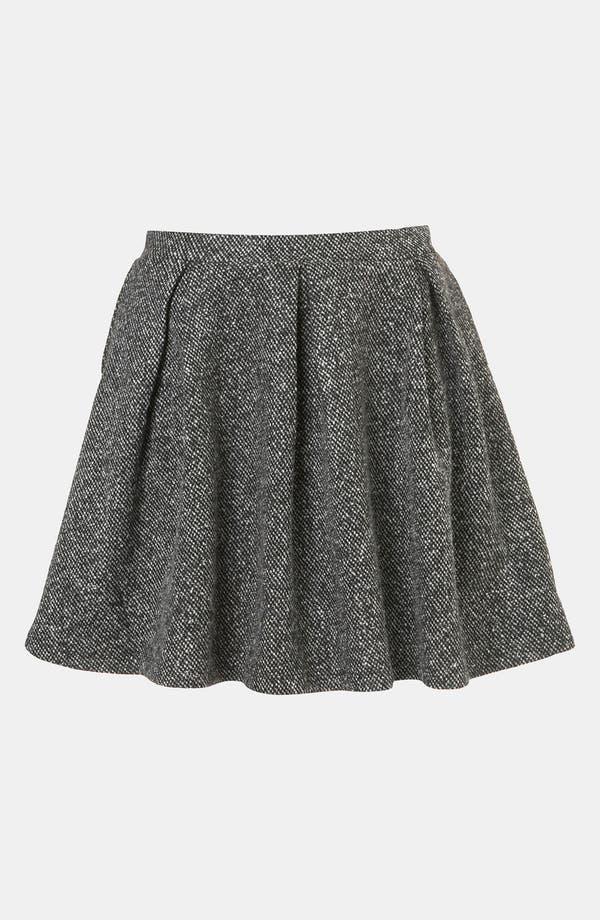 Alternate Image 1 Selected - Topshop Tweed Skater Skirt
