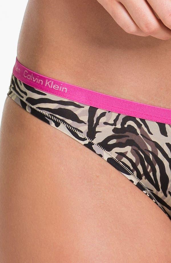 Alternate Image 3  - Calvin Klein Microfiber Bikini