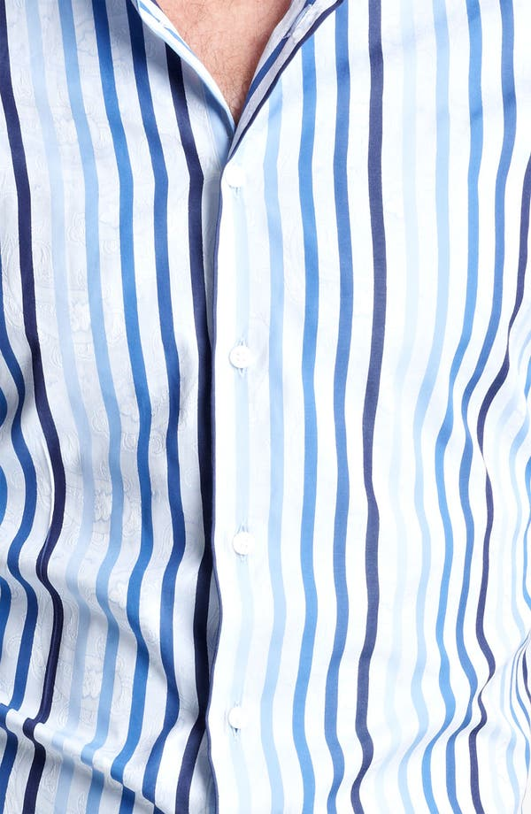 Alternate Image 3  - Etro Stripe Jacquard Print Dress Shirt