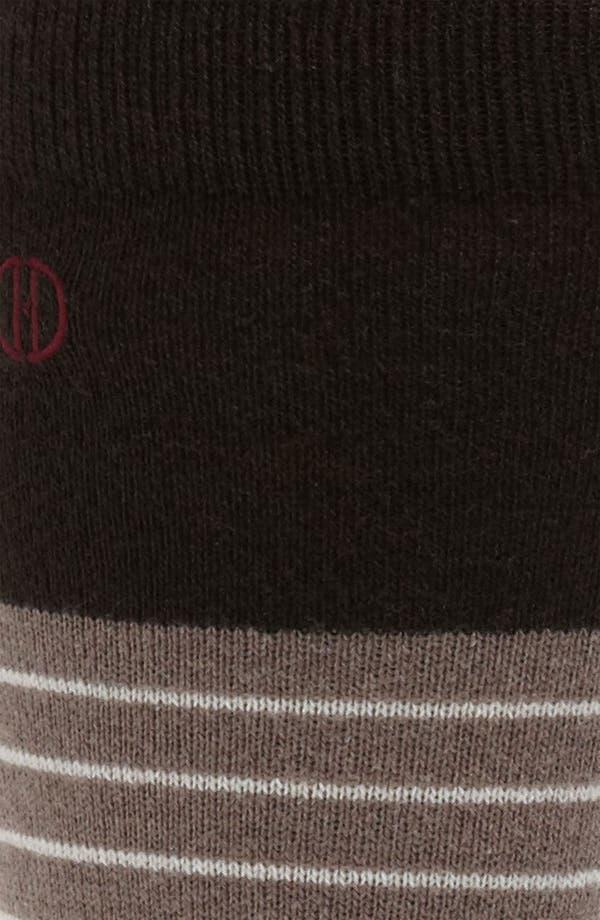 Alternate Image 2  - David Donahue Wool Blend Socks