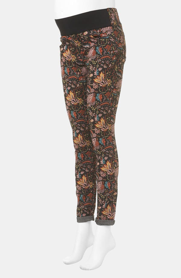 Alternate Image 2  - Topshop 'Leigh - Scandi Floral' Skinny Maternity Jeans