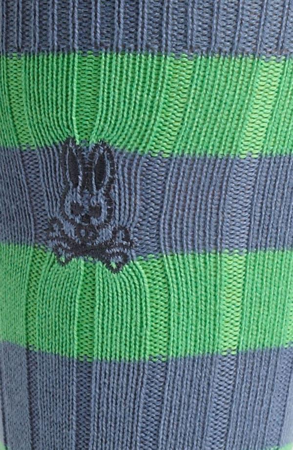 Alternate Image 2  - Psycho Bunny Rugby Stripe Sock