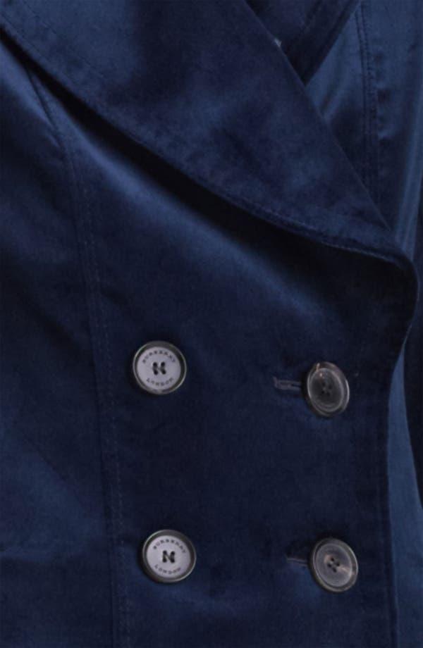 Alternate Image 3  - Burberry London Double Breasted Velvet Jacket