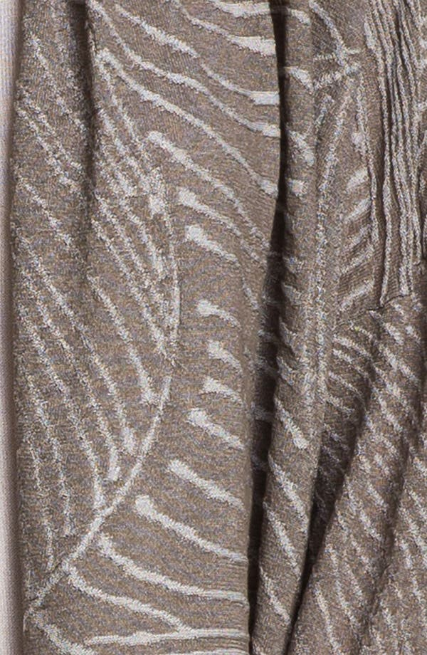 Alternate Image 3  - Lafayette 148 New York Jacquard Drape Front Cardigan