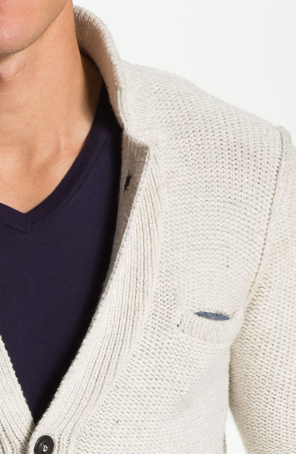 Alternate Image 3  - J.C. Rags Reverse Knit Three Button Sweater Blazer