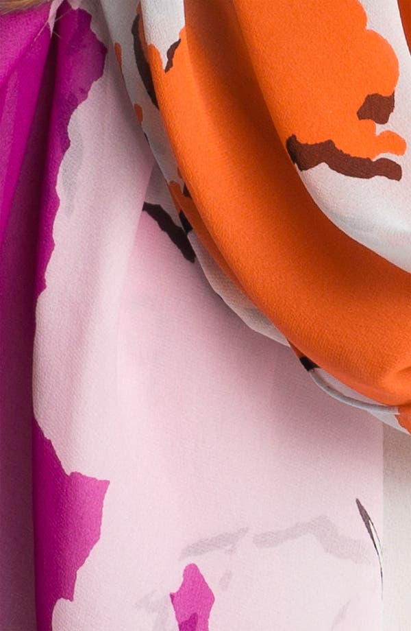 Alternate Image 2  - Diane von Furstenberg Washed Silk Chiffon Scarf