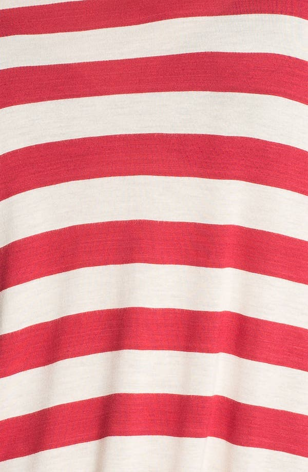 Alternate Image 3  - Kensie Drawstring Hem Stripe Top