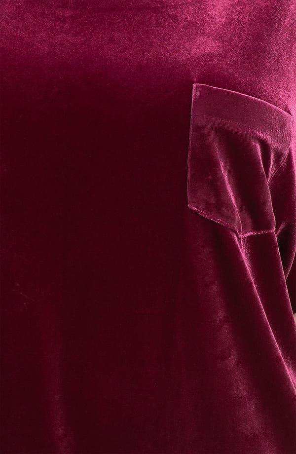 Alternate Image 3  - Sejour Velvet & Knit Tee (Plus)