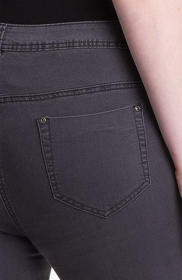 Alternate Image 3  - Evans Straight Leg Slim Jeans (Plus Size)