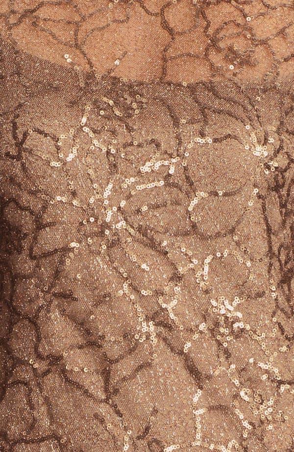 Alternate Image 3  - Teri Jon V-Back Sequin Floral Sheath Dress