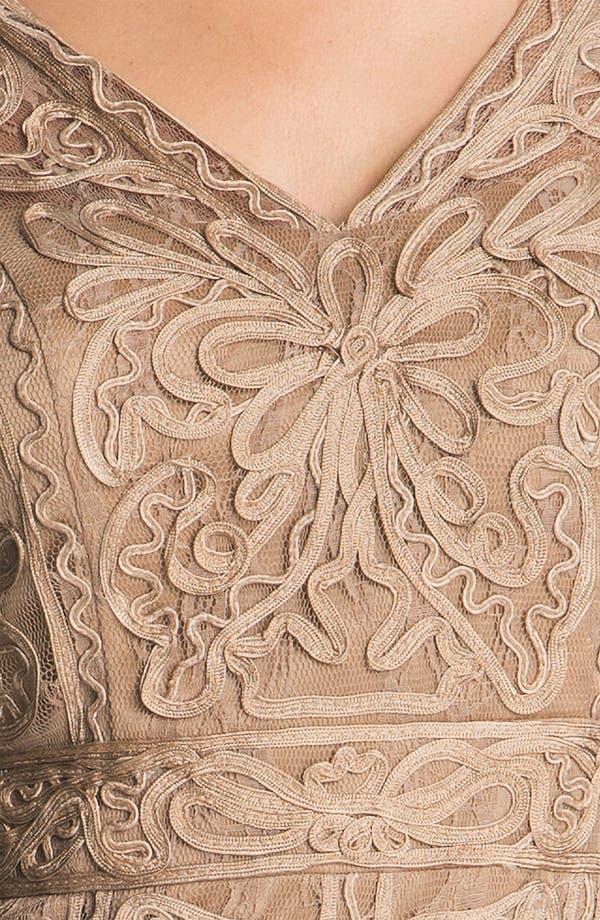 Alternate Image 3  - Sue Wong Double-V Embroidered Sheath Dress