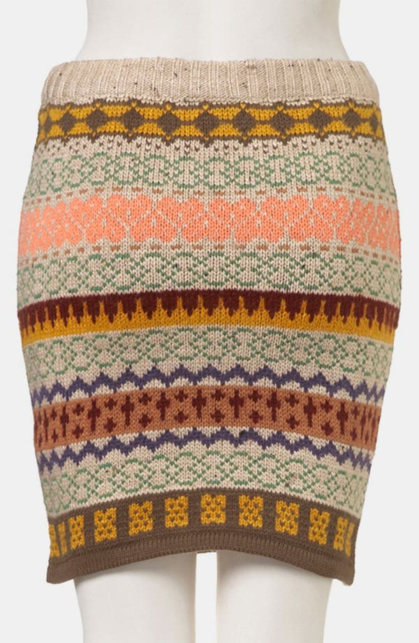 Alternate Image 2  - Topshop Nordic Knit Sweater Skirt