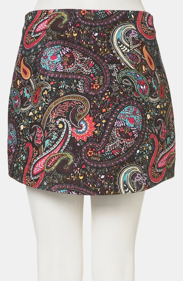 Alternate Image 2  - Topshop Paisley Miniskirt