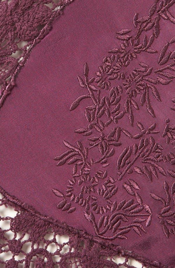 Alternate Image 3  - Topshop Crochet Trim Silk Gown